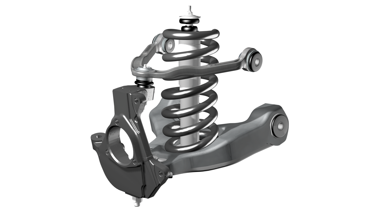 Suspension Systems Fabtech 2006 Jeep Wrangler Front Diagram Steering Is Achieved With Tie Rods Positioned To Reduce Geometry Change During Travel Also Known As Bump Steer