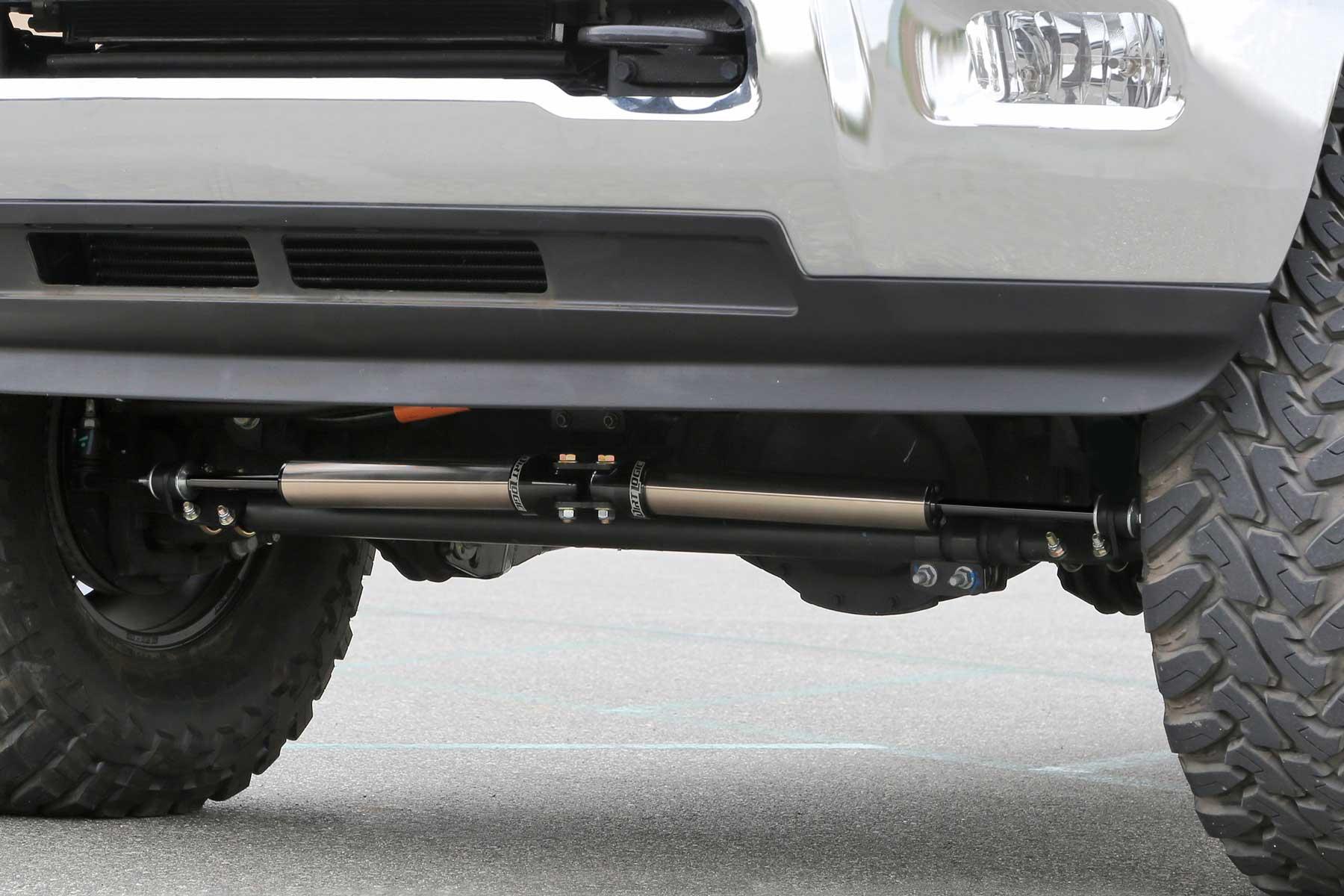 Dual Steering Stabilizer System w/ Dirt Logic 2 25 Shocks - FTS23164 |  Fabtech®