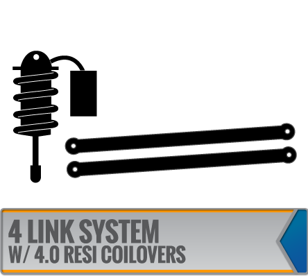 4 LINK SYSTEMS W/ DIRT LOGIC 4.0 RESI COILOVERS
