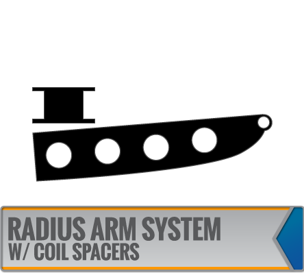 RADIUS ARM SYSTEMS W/ COIL SPACERS