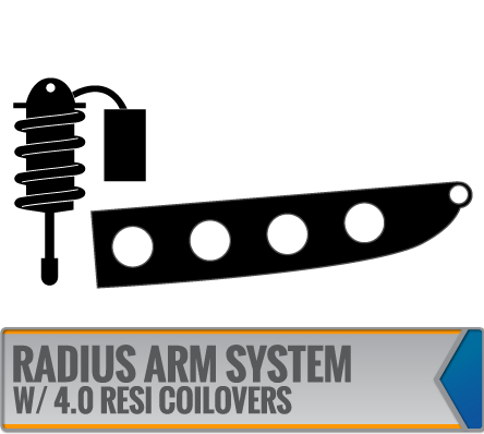 RADIUS ARM SYSTEMS W/ DIRT LOGIC 4.0 RESI COILOVERS