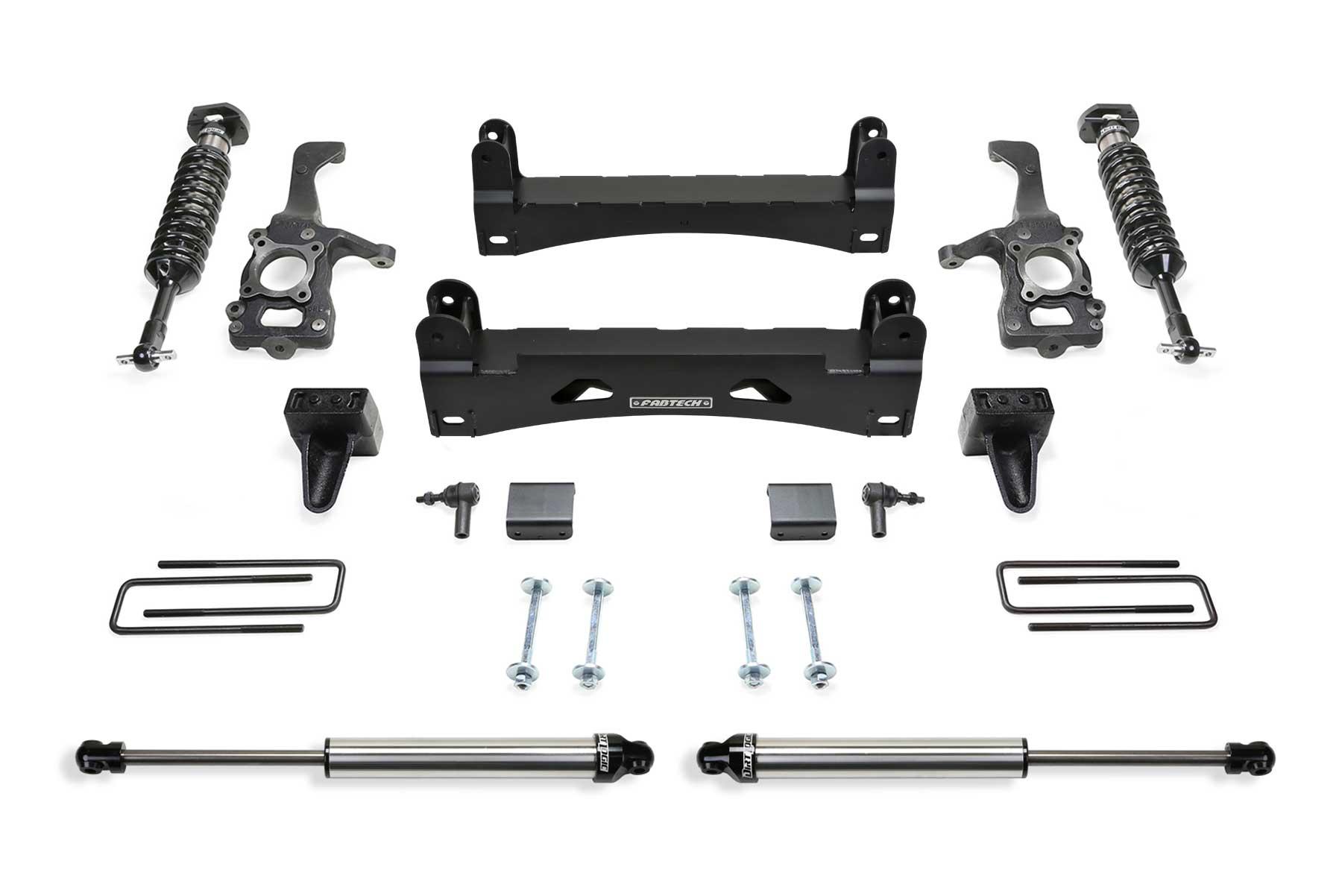 "6"" Performance System w/ Front Dirt Logic 2.5 Coilovers & Rear Dirt Logic  2.25 Shocks - K2249DL | Fabtech"