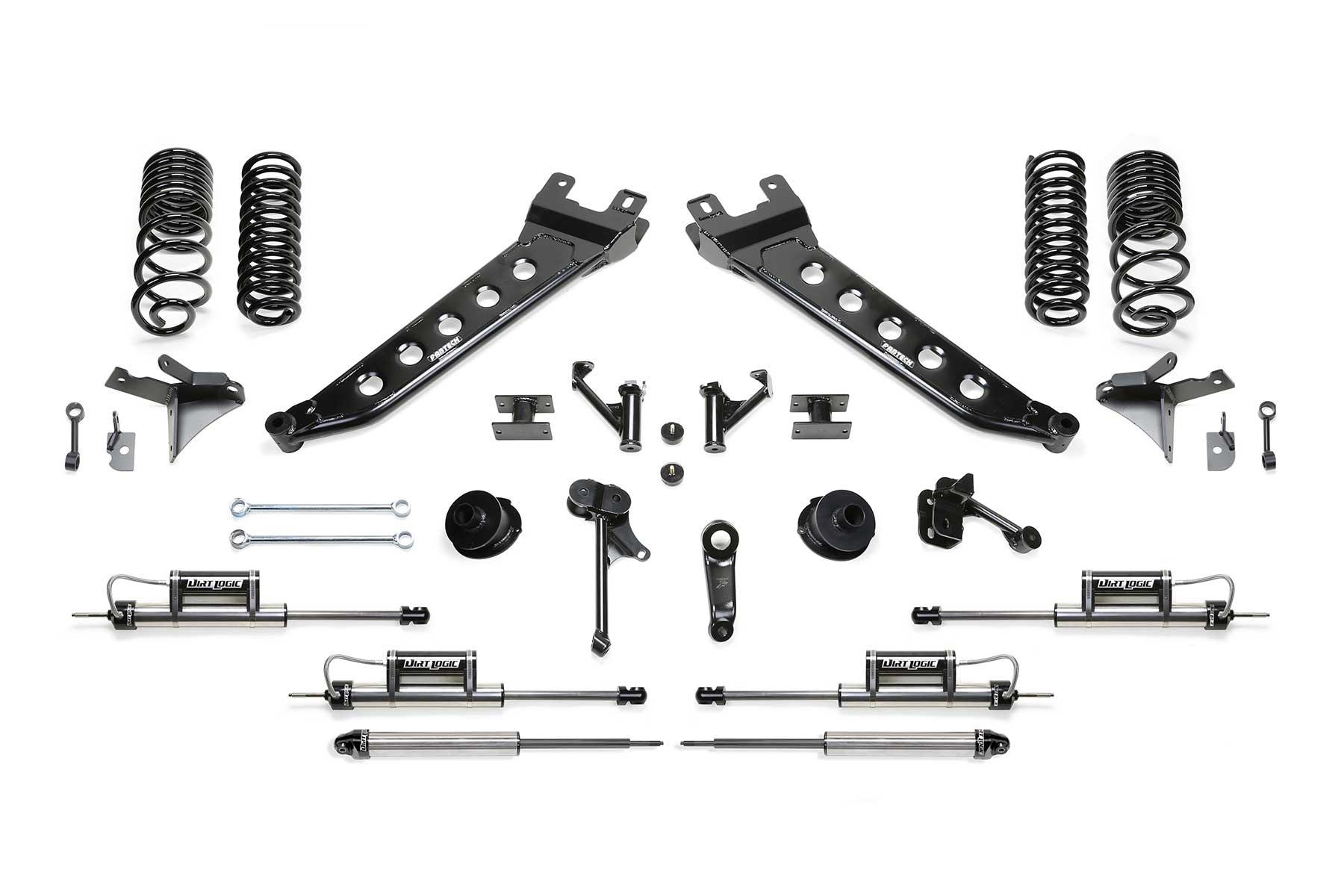 "5"" Radius Arm System w/Coil Springs & Front Dual Dirt Logic 2.25 Resi  Shocks & Rear Dirt Logic 2.25 Shocks - K3165DL | Fabtech Motorsports"